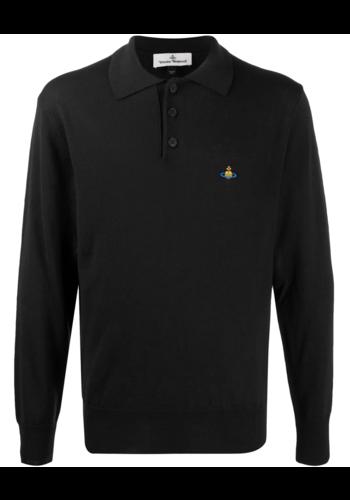 VIVIENNE WESTWOOD vivienne polo knitwear black