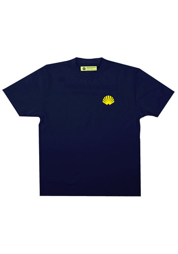 NEW AMSTERDAM SURFASSOCIATION logo tee navy yellow