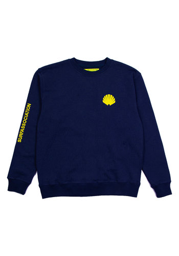 NEW AMSTERDAM SURFASSOCIATION logo sweat navy yellow