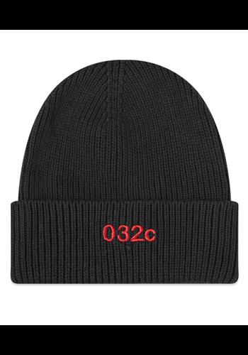 032C logo beanie black