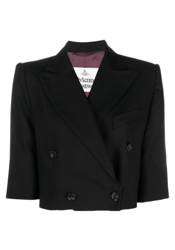 VIVIENNE WESTWOOD cropped jacket black