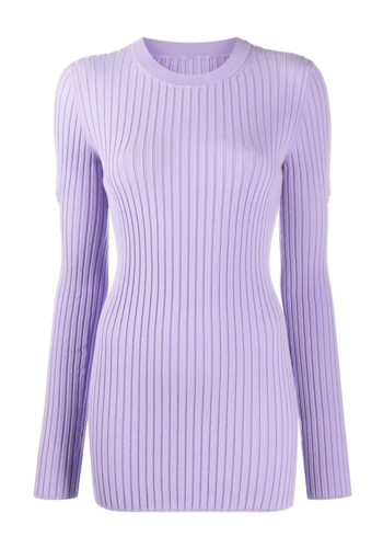 MM6 MAISON MARGIELA lilac cut-out knitwear