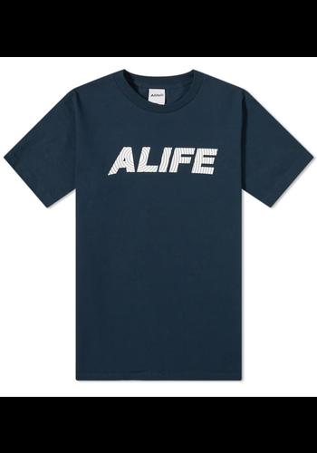 ALIFE sonar t-shirt navy