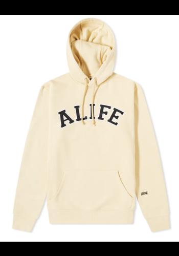 ALIFE collegiate hoodie cream