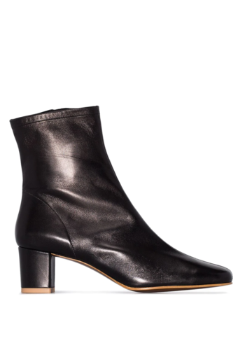 BY FAR sofia black leather boot