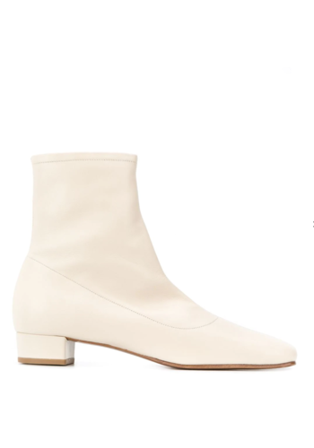 BY FAR este leather boots white