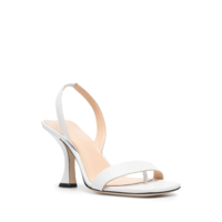 LOTTA WHITE NAPPA LEATHER HEEL