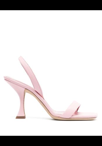 BY FAR lotta peony nappa leather heel