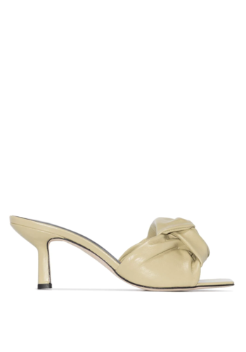 BY FAR lana yellow creased heel