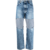 MAISON MARGIELA LAYERED RECYCLED DENIM JEANS
