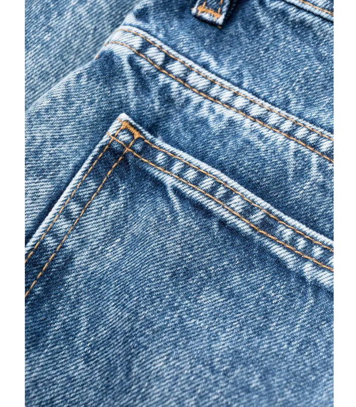 LAYERED RECYCLED DENIM JEANS