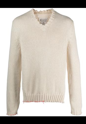 MAISON MARGIELA deconstructed knitwear ecru