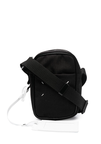 MAISON MARGIELA mini camera bag canvas leather black