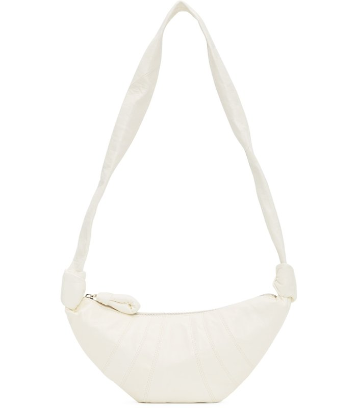 SMALL CROISSANT BAG WHITE LEATHER
