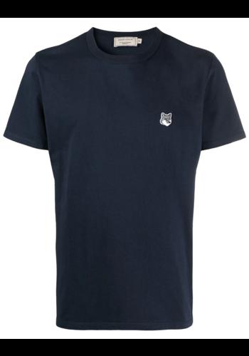 MAISON KITSUNE grey fox t-shirt navy