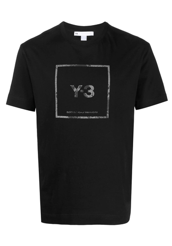 Y-3 square ss tee black