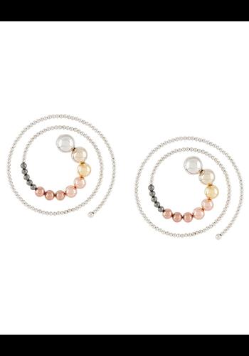 Y/PROJECT spiral earrings multicolor metal