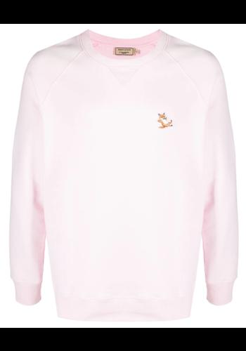 MAISON KITSUNE chillax fox sweatshirt light pink