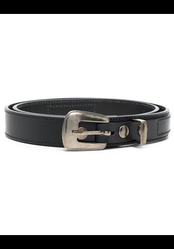 LEMAIRE minimal western belt 3cm black