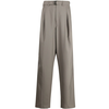 LEMAIRE BELTED PLEAT PANTS TAUPE