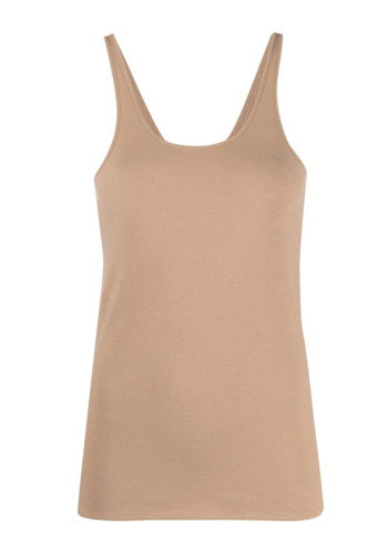 LEMAIRE jersey tank top safari brown