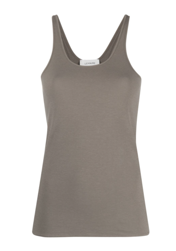 LEMAIRE jersey tank top granite grey