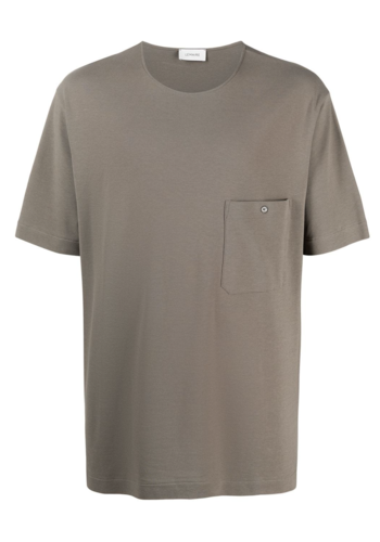 LEMAIRE jersey crepe chinese t-shirt granite grey