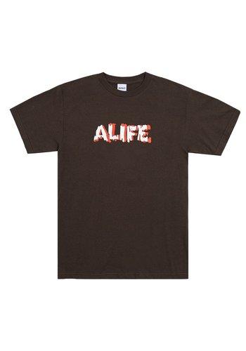ALIFE drip t-shirt chocolate
