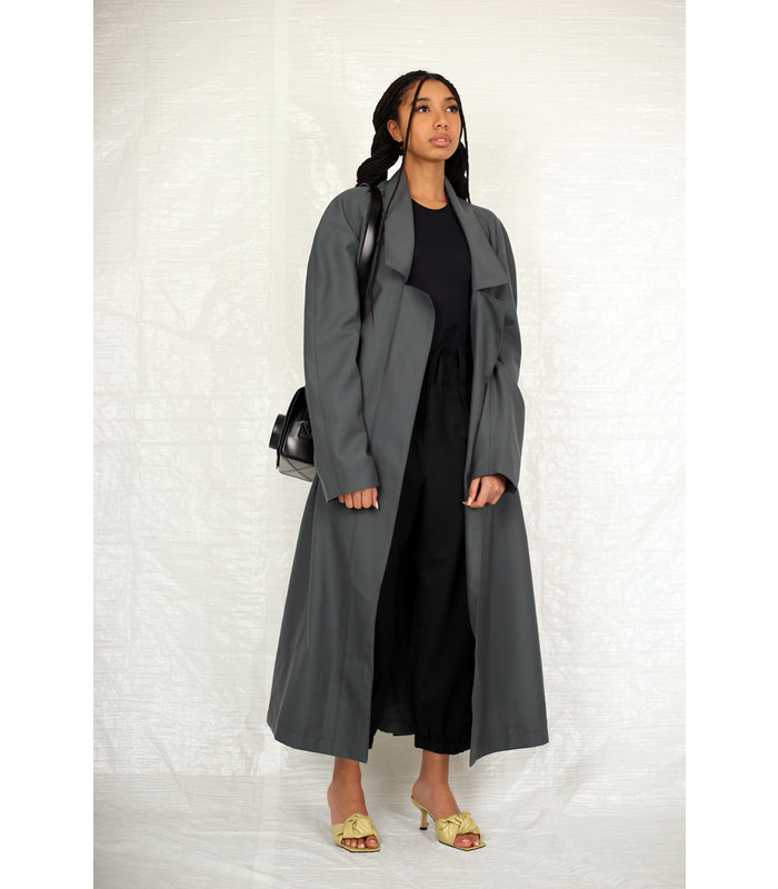 LIGHT ROBE COAT IRON GREY