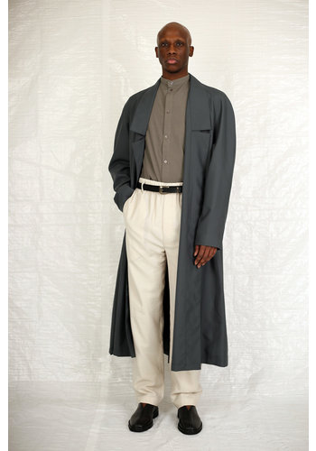 LEMAIRE light robe coat iron grey