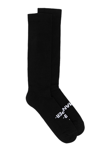 RICK OWENS DRKSHDW human socks black/milk