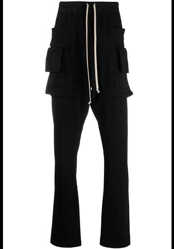 RICK OWENS DRKSHDW creatch knit cargo drawstring black