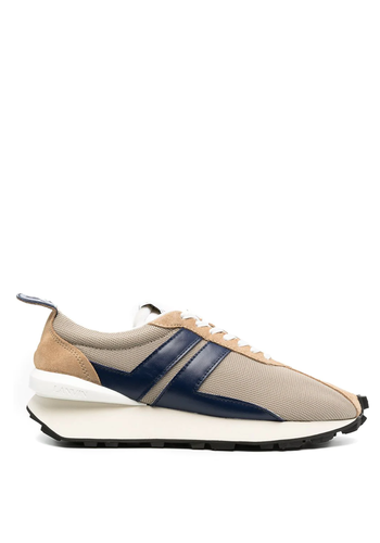 LANVIN running sneaker light beige/blue