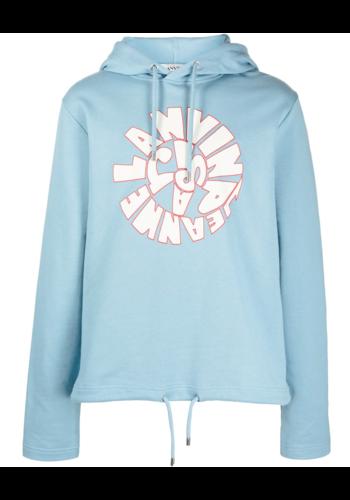 LANVIN printed hoodie sky blue