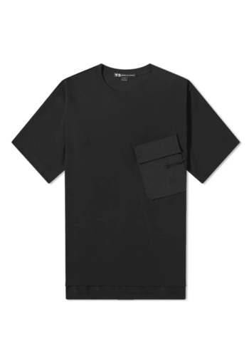 Y-3 pocket tee black