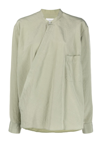 LEMAIRE wrapover shirt sage