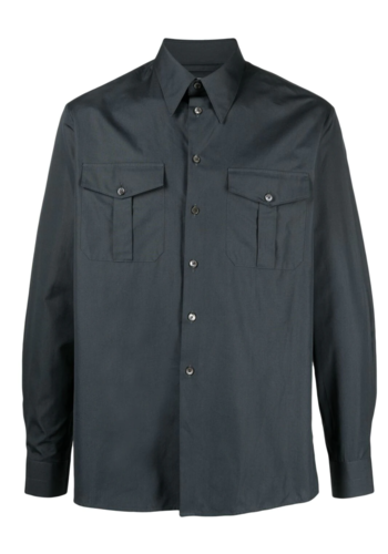 LEMAIRE military shirt midnight turquoise