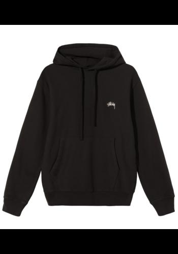 STUSSY stock logo hoodie black
