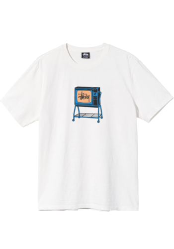 STUSSY rolling tv dyed tee natural