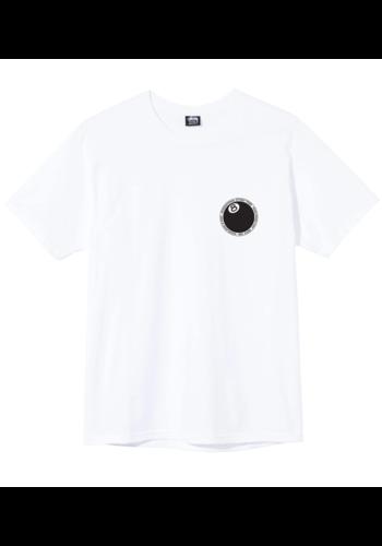 STUSSY 8 ball dot tee white