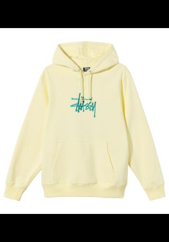 STUSSY basic stüssy embroidered hood pale yellow