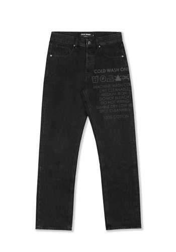 COLDWASH lasered carelabel jeans black