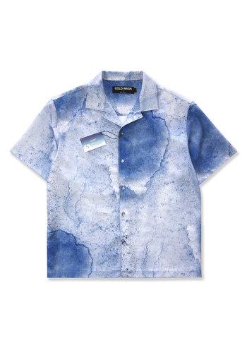 COLDWASH coolever watercolor shirt blue
