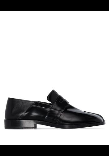 MAISON MARGIELA tabi loafer brushed leather black