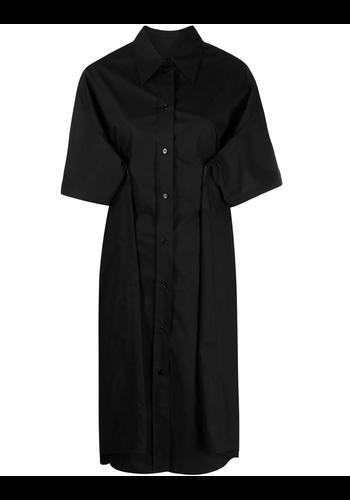 MM6 MAISON MARGIELA shirt dress long black