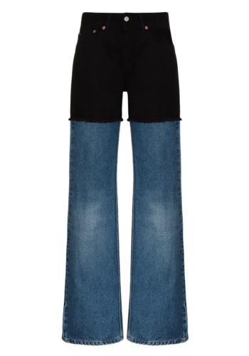 MM6 MAISON MARGIELA two-tone jeans stone/black