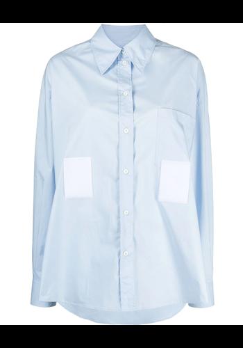 MM6 MAISON MARGIELA shirt dress short sky blue