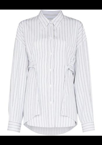 MM6 MAISON MARGIELA shirt dress short white/blue stripes