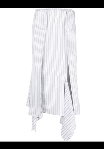 MM6 MAISON MARGIELA skirt white/blue stripes