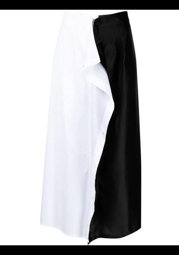 MM6 MAISON MARGIELA midi skirt white/black